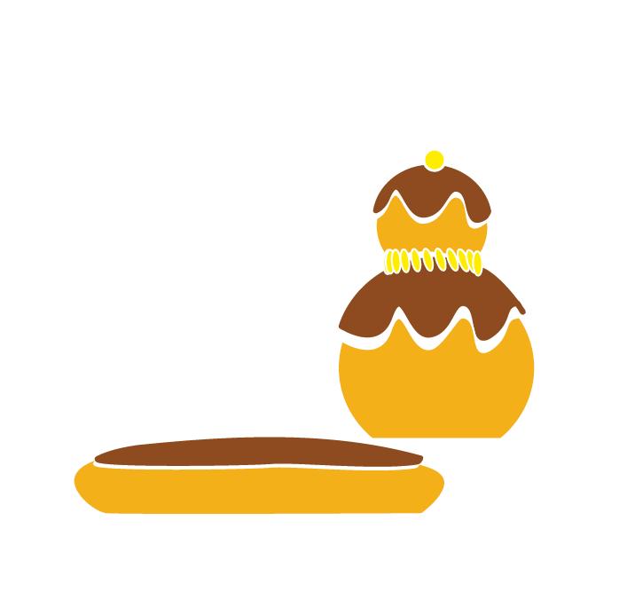 Religieuse et eclair au chocolat