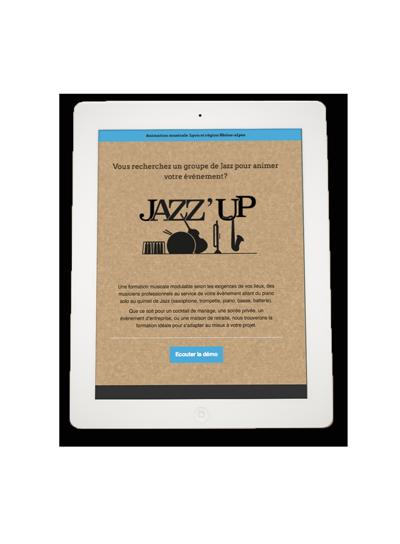 Newsletter mise en situation iPad