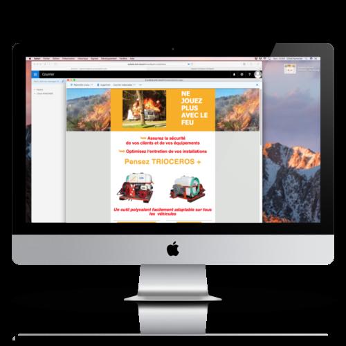 Mockup Emailing iMac