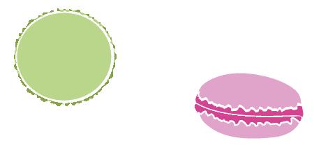Macarons flatdesign