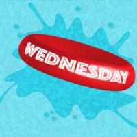 Illustration jours de la semaine - mercredi-piscine